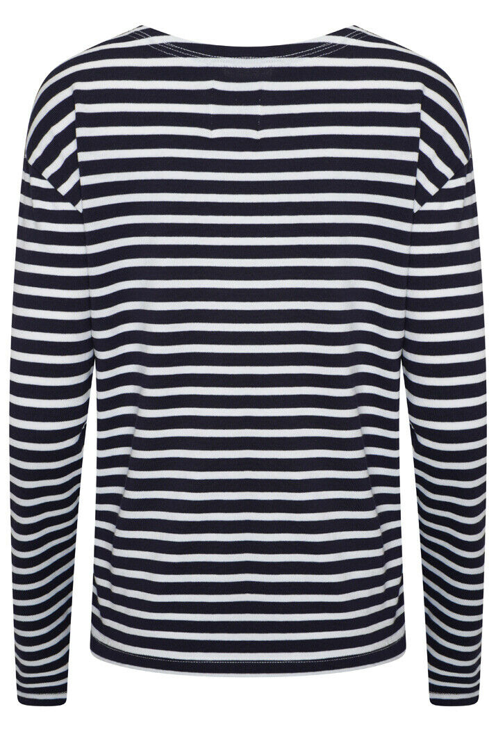 Blaire Stripe Top - Atlantic Navy