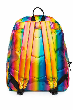 HYPE RAINBOW HOLOGRAPHIC BACKPACK RUCKSACK BAG - MULTI