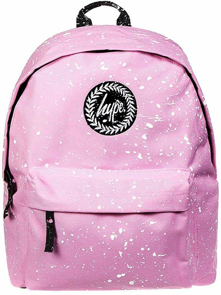 HYPE SPLAT BACKPACK RUCKSACK BAG - BABY PINK/WHITE