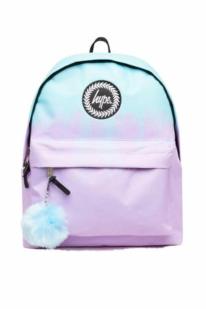 HYPE DRIPS BACKPACK RUCKSACK BAG - BLUE/LILAC