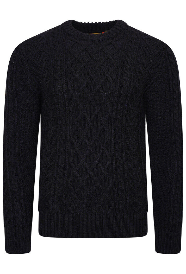 Jacob Cable Crew Jumper - Downhill Navy