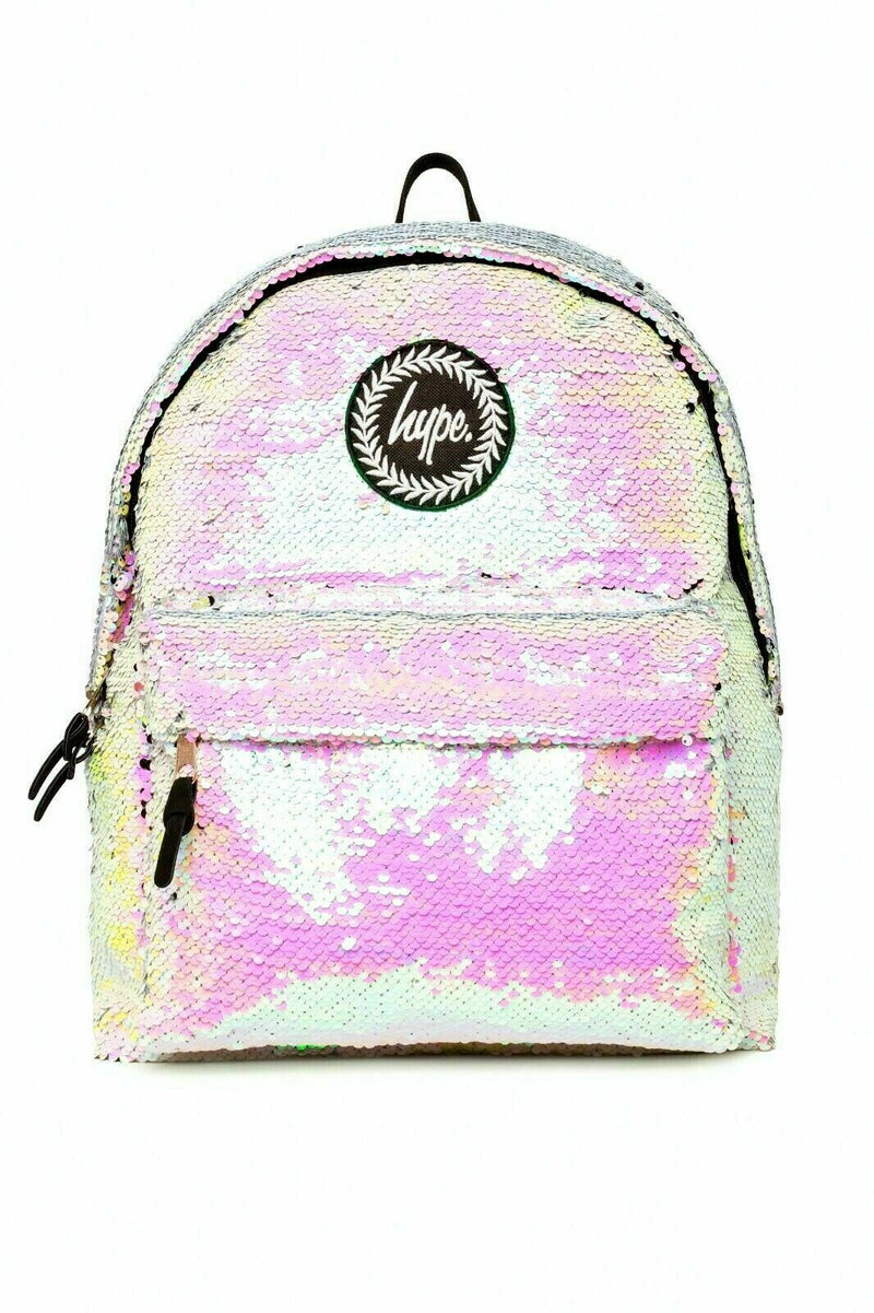 HYPE UNICORN SEQUIN BACKPACK RUCKSACK BAG - MULTI