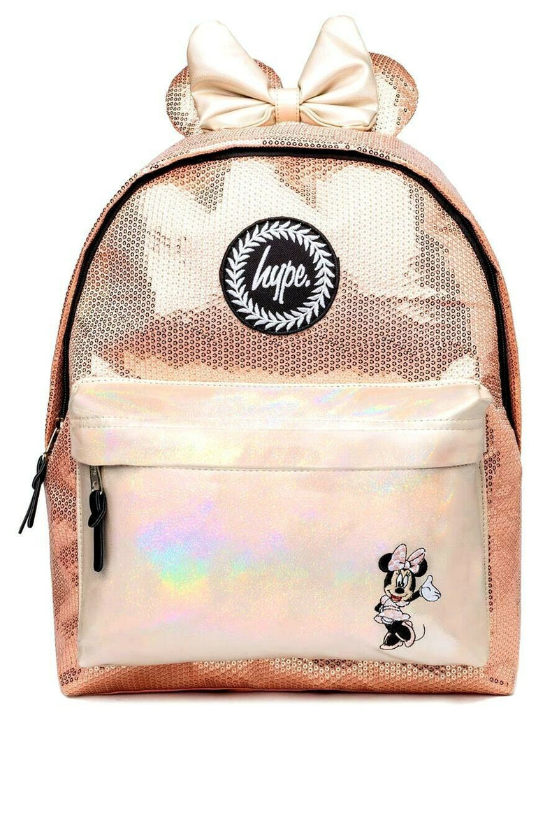 HYPE DISNEY MINNIE GLAM BACKPACK RUCKSACK BAG - ROSE GOLD