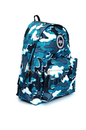 Blue Drips Camo Backpack