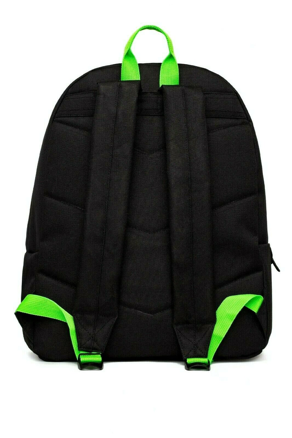 HYPE GREEN NEON FLASH BACKPACK RUCKSACK BAG - BLACK/NEON GREEN