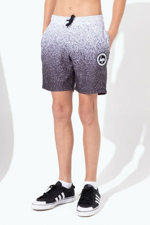 Speckle Fade White/Black Kids Shorts