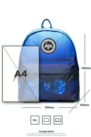 Blue Rose Drips Backpack