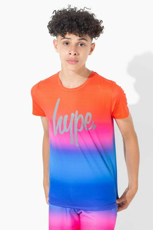 Red Rainbow Fade Kids T-Shirt