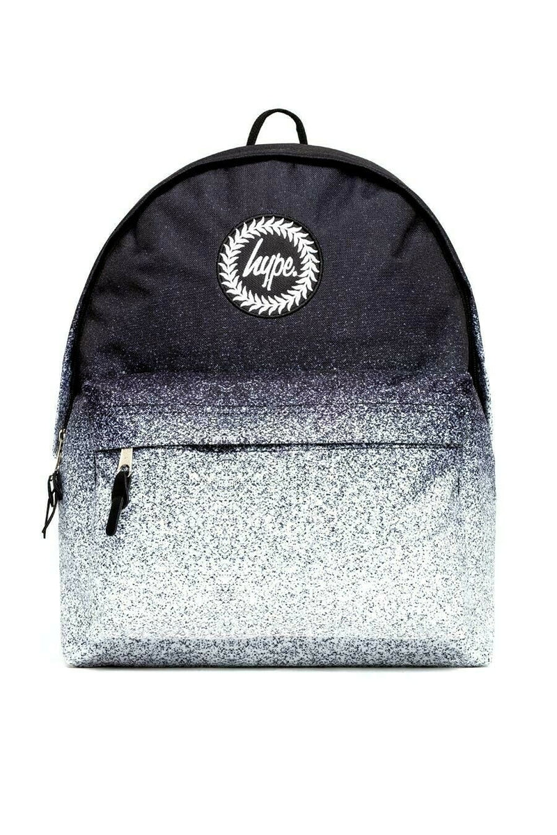 HYPE SPECKLE FADE BACKPACK RUCKSACK BAG - BLACK/WHITE