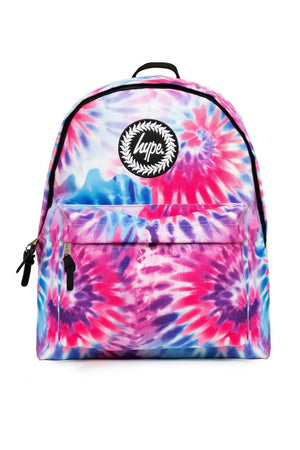 HYPE PINK WAVEY BACKPACK RUCKSACK BAG - MULTI