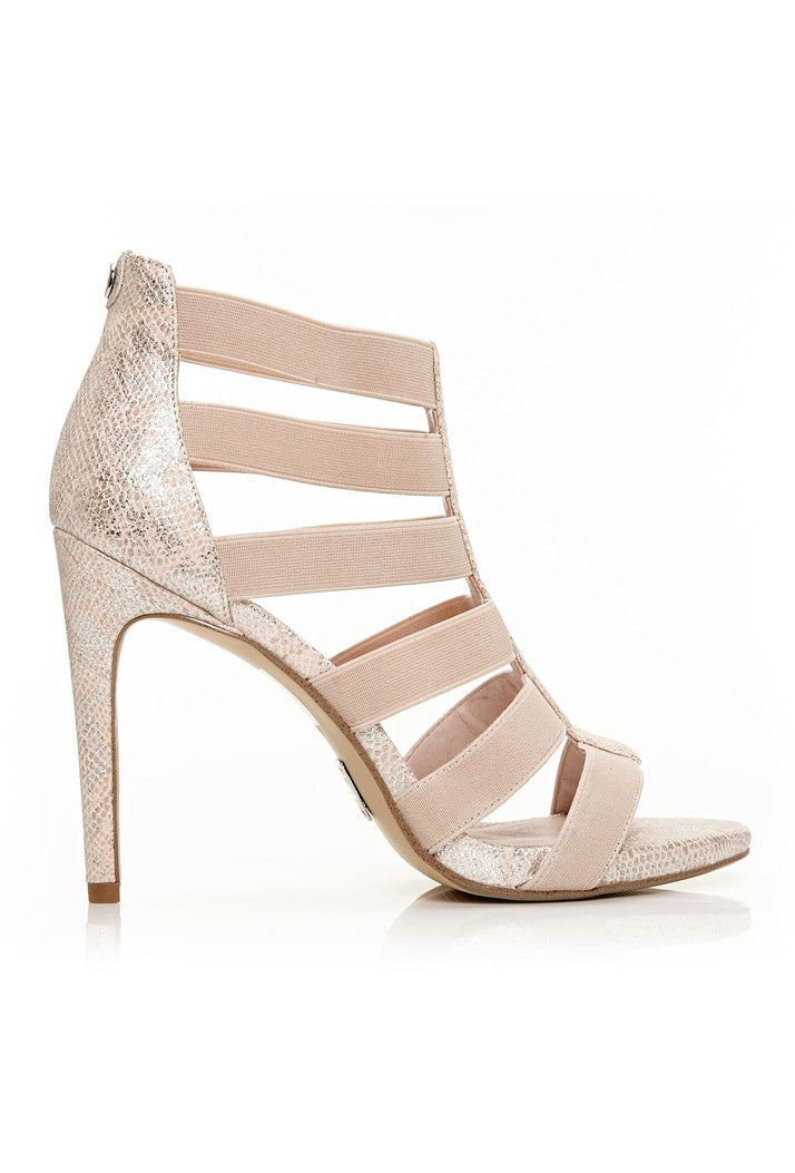 MODA IN PELLE SILVERA HIGH HEELED SANDALS - NUDE