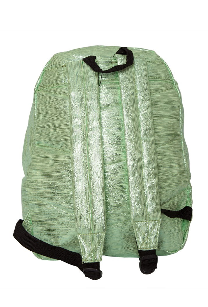 HYPE SLIME FOIL BACKPACK RUCKSACK BAG - GREEN
