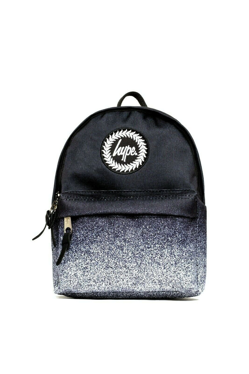 HYPE SPECKLE FADE MINI BACKPACK RUCKSACK BAG - BLACK/WHITE