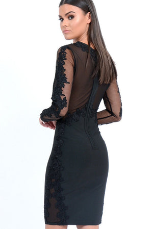 FOREVER UNIQUE TALISA BODYCON DRESS - BLACK