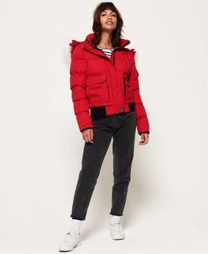 Everest Ella Bomber Jacket - Chilli Pepper