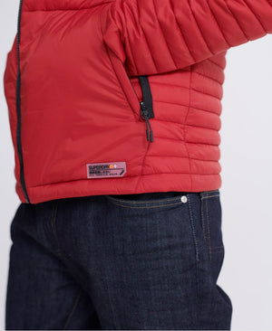 Packaway Non_Hooded Fuji Jacket - Dark Red