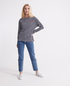 Blair Stripe Top - Atlantic Navy