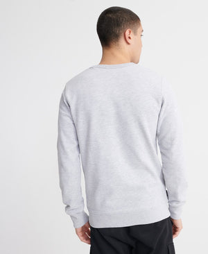 Core Logo Faux Suede Sweatshirt - Collective Light Marl