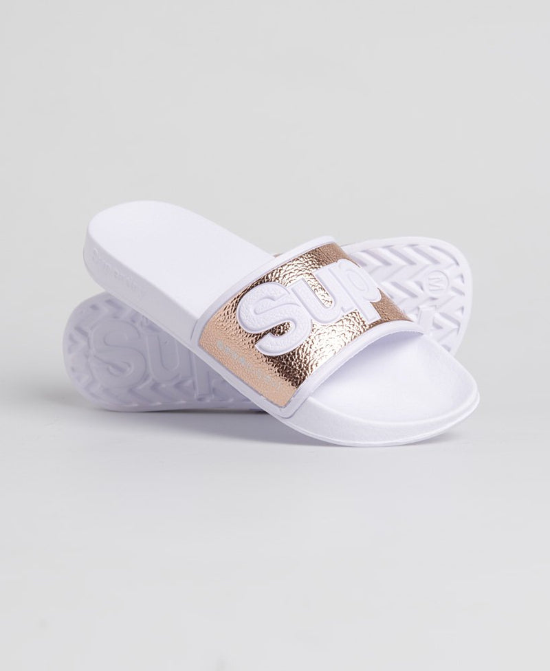 Eva 2.0 Pool Sliders - Rose Gold