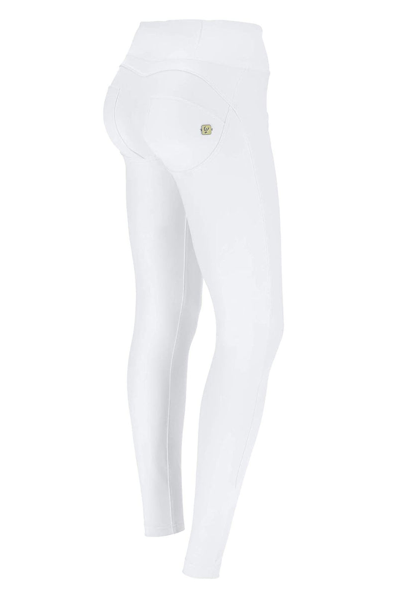 Faux Leather High-Rise WR.UP® Trousers - White