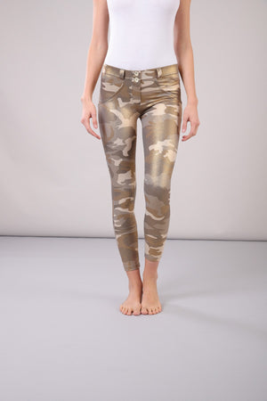 FREDDY WRUP4RS922 ANKLE LENGTH MID RISE SUPER SKINNY PANT - CAMOUFLAGE