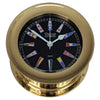 Weems & Plath Atlantis Quartz Clock, Black Dial w/ Color Flags
