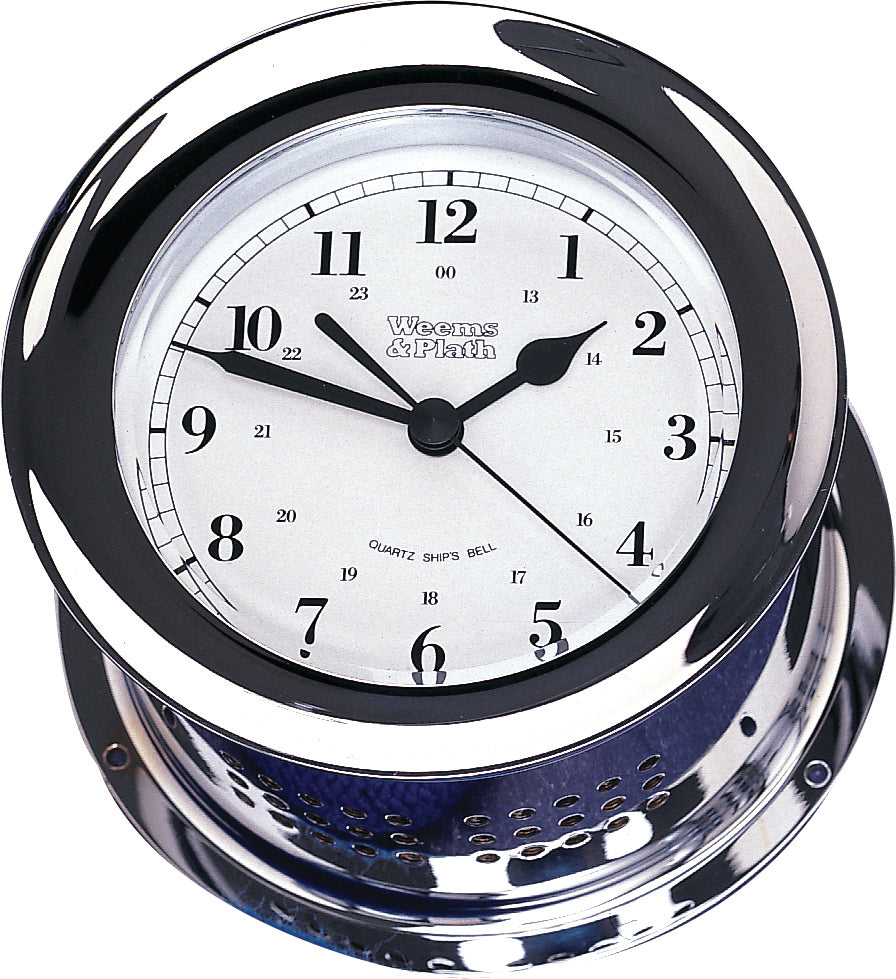Weems & Plath Chrome Plated Atlantis Quartz Ship's Bell Clock - 220100