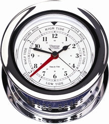 Weems & Plath Chrome Plated Atlantis Time & Tide Clock - 220300