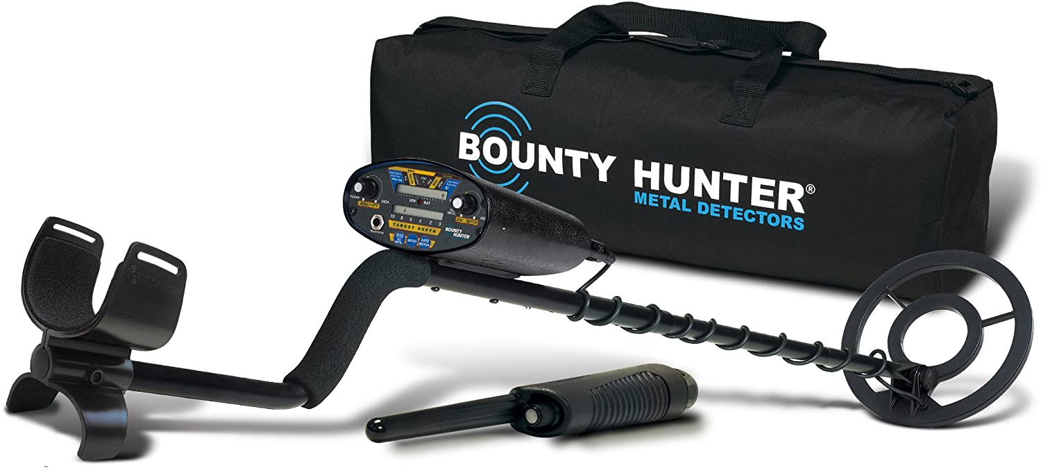 Bounty Hunter Quick Draw II Metal Detector Bundle - with Pin Pointer and Carry Bag - QD2GWP