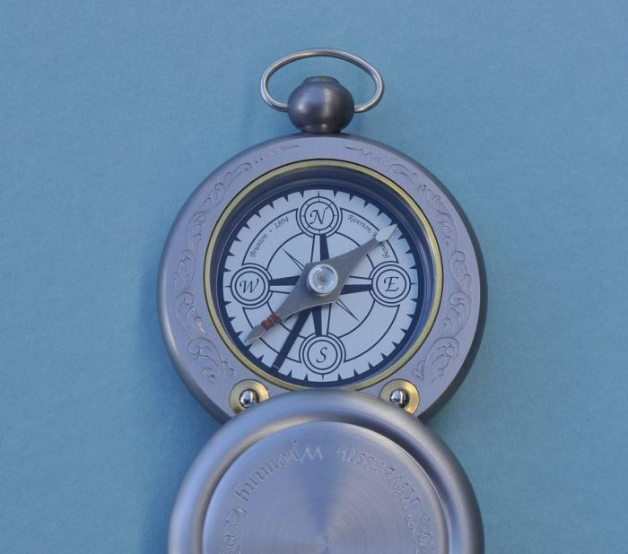 Stanley London Engravable Brunton Gentleman's Pocket Compass