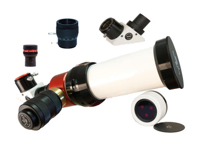 LUNT 50mm Solar Telescope - Double Stack - 6mm Blocking Filter - Feather Touch Focuser - Zoom Eyepiece