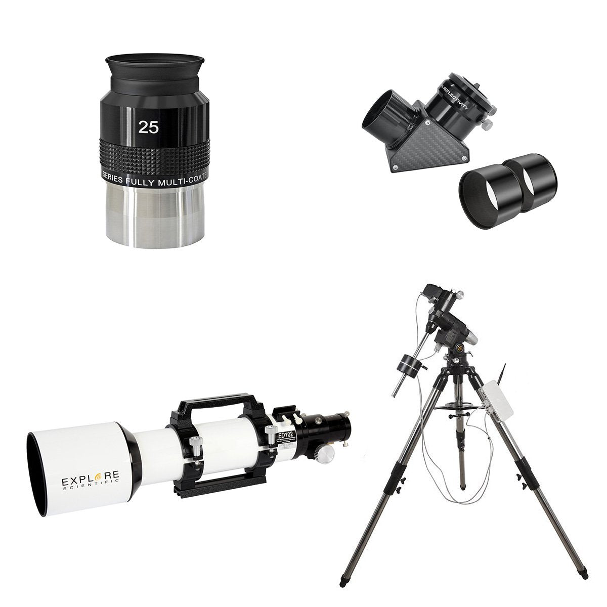 Explore Scientific ED102 Triplet Refractor w/ Go-To Mount Bundle