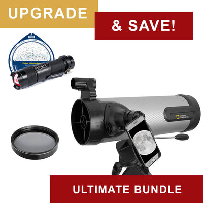 National Geographic NT114CF 114mm Silver Carbon Fiber Reflector Telescope - Ultimate Bundle Package