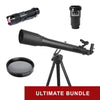 Explore One Gemini II Flat Black 70mm AZ Mount Telescope - Ultimate Bundle Package