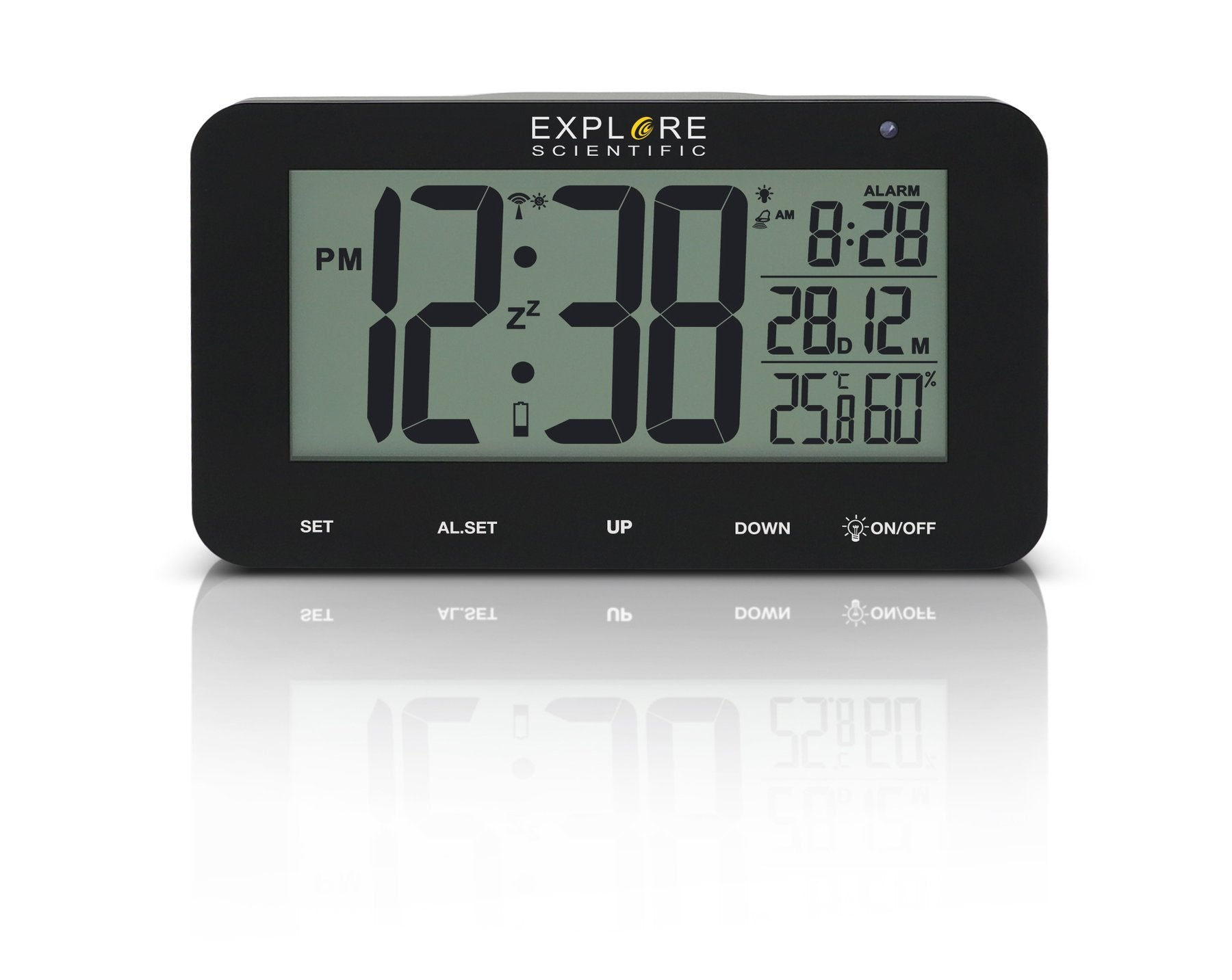 Explore Scientific Large Display Radio Controlled Alarm Clock - RDC1004CM3000