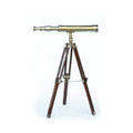 Stanley London 38mm Engravable Polished Brass Harbormaster Brass Telescope w/ Hardwood Tripod
