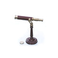 Stanley London 42mm Engravable Polished Brass Table-top Telescope