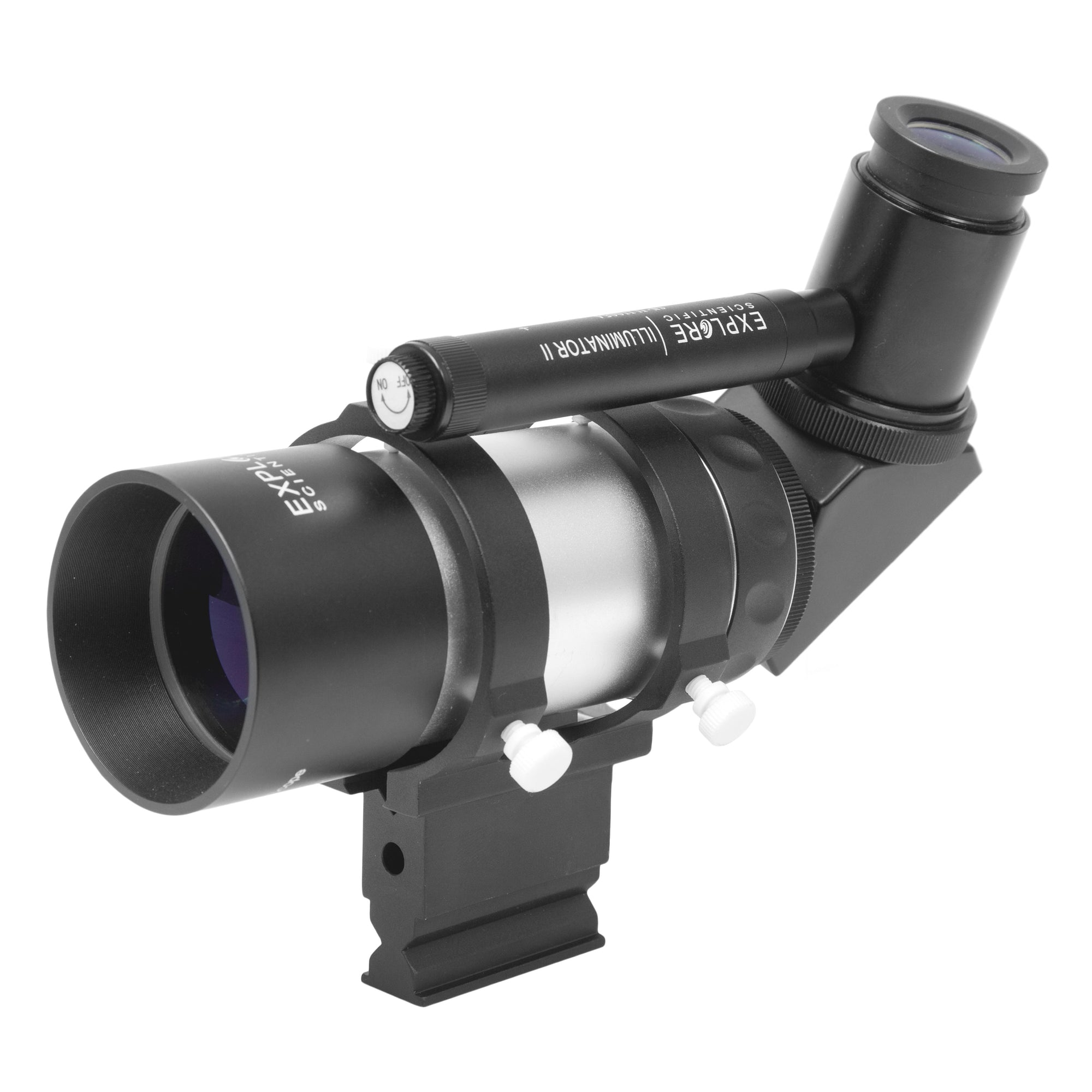 Explore Scientific 8x50mm Illuminated Polar Right Angle Finder Scope with NEW long battery life Illuminator II