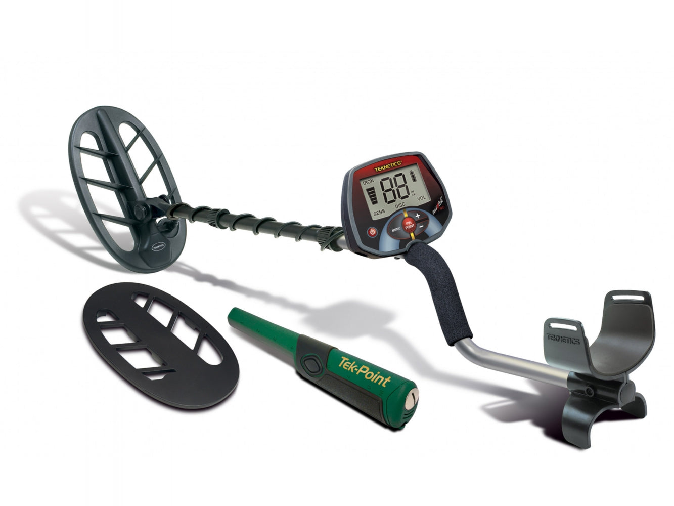 "Teknetics Euro-Tek Pro Metal Detector with Tek-Point and 11"" DD Coil and Coil Cover"