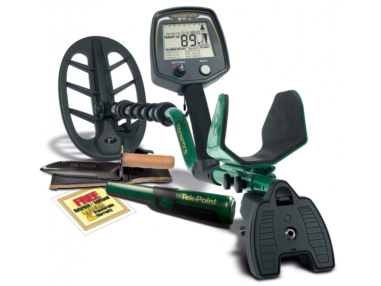 Teknetics T2+GWP Metal Detector Bundle