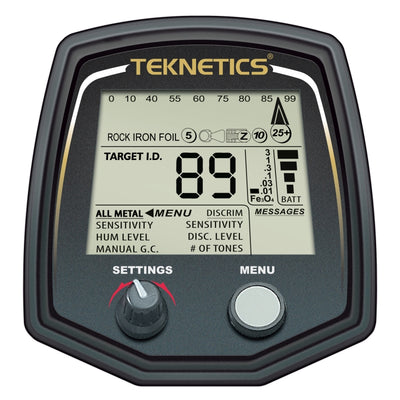 "Teknetics T2 Special Edition Metal Detector with 5"" DD & 11"" DD - T2LTD-BLK"