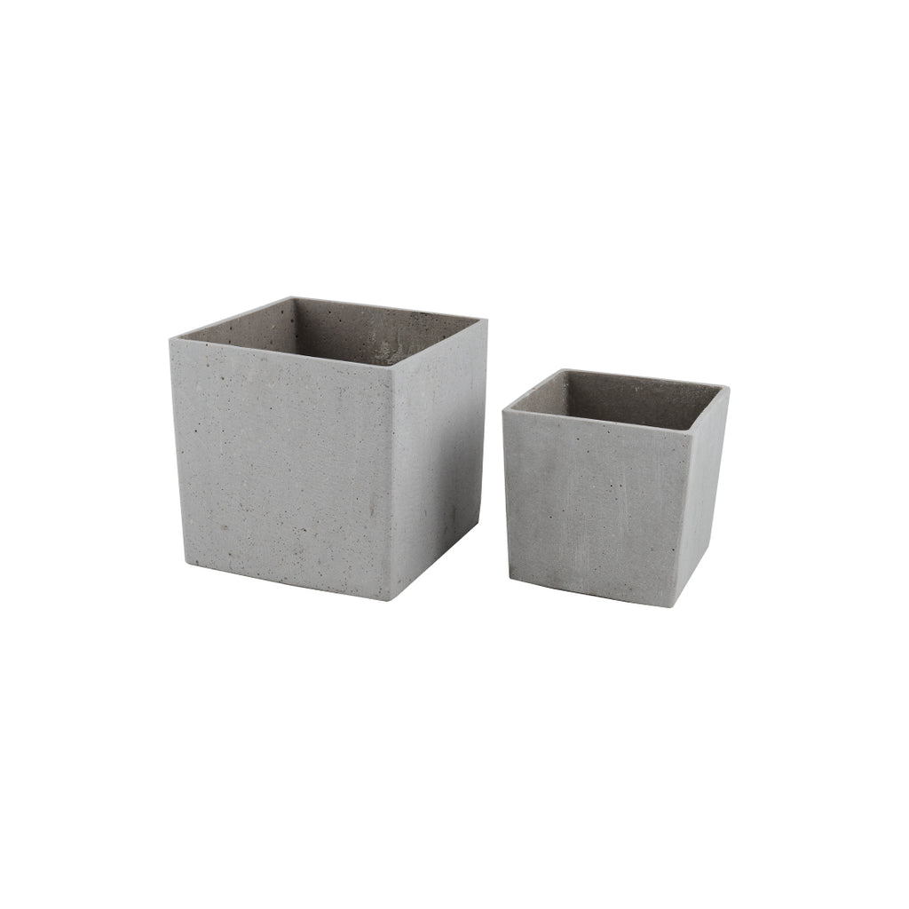 Concrete Look Square Planter