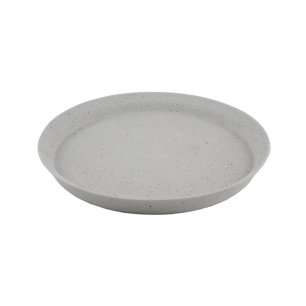 Concrete Look Round Tray