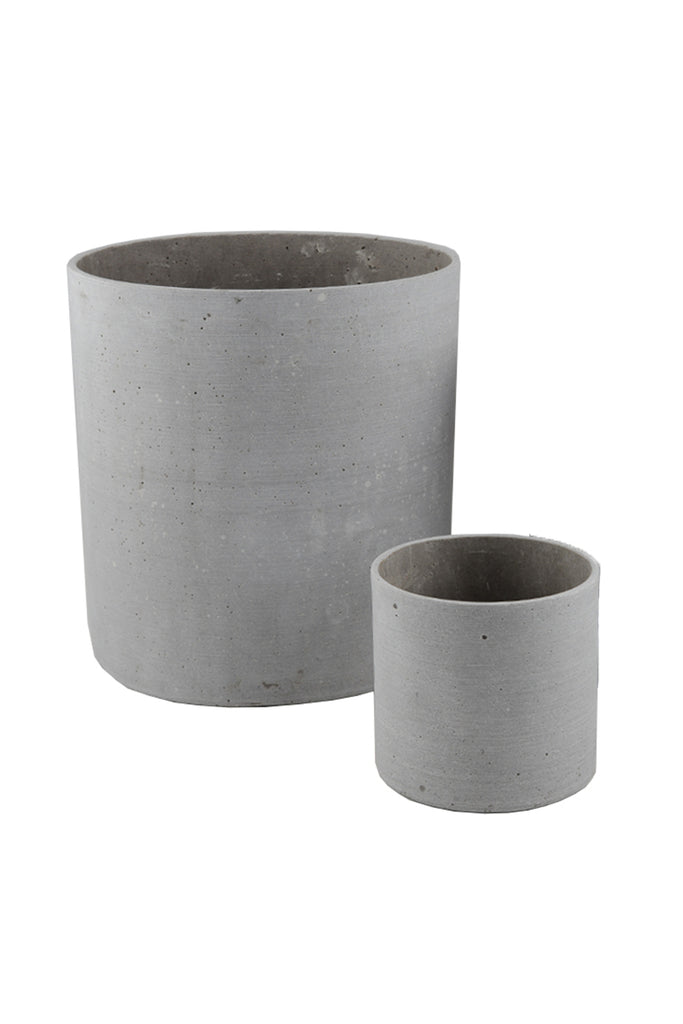 Concrete Look Tall Cylinder Planter