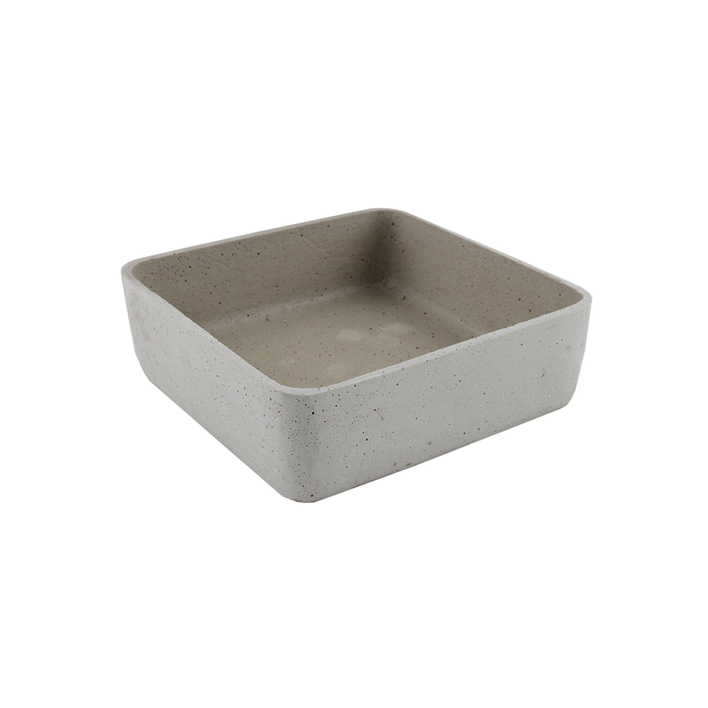 Concrete Look Rounded Square Bowl