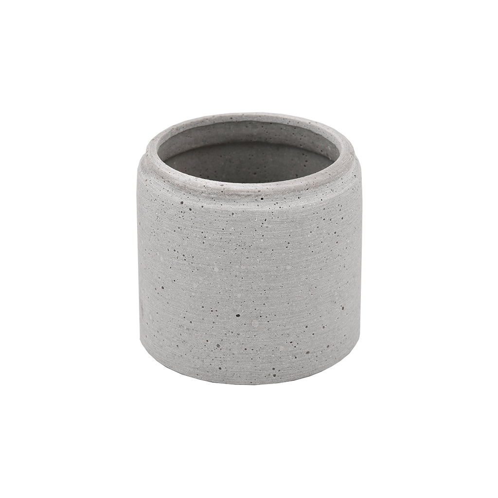 Concrete Look Round Planter