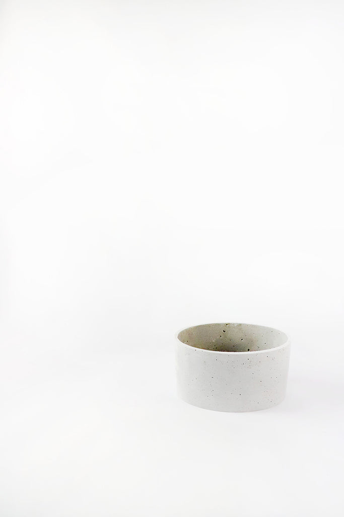 Concrete Look Wide Oval Planter