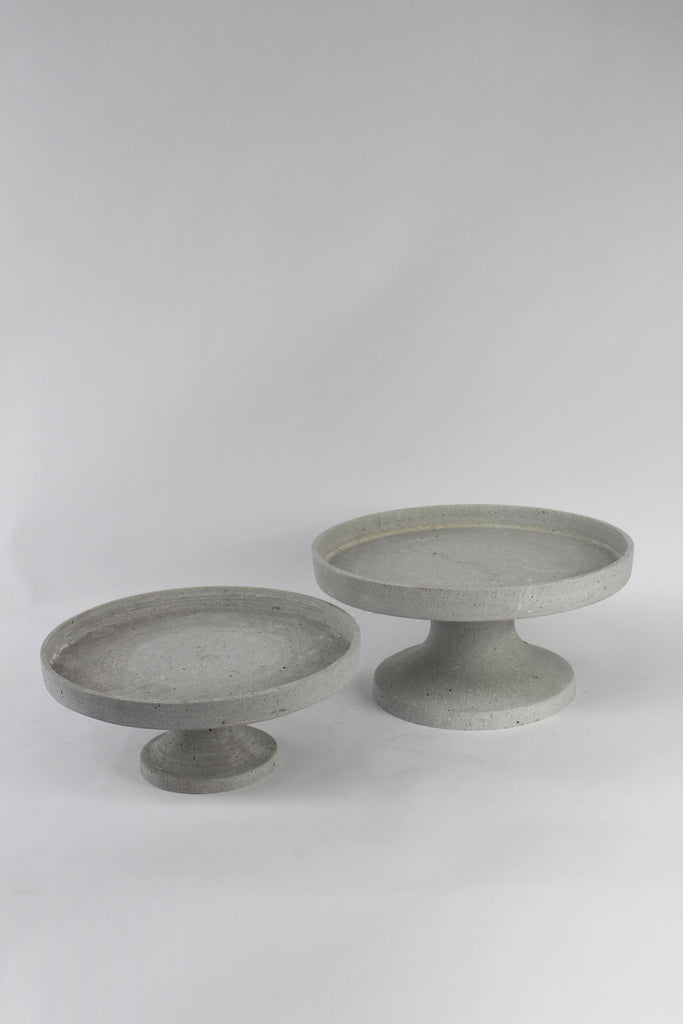 Concrete Look Cake Stands