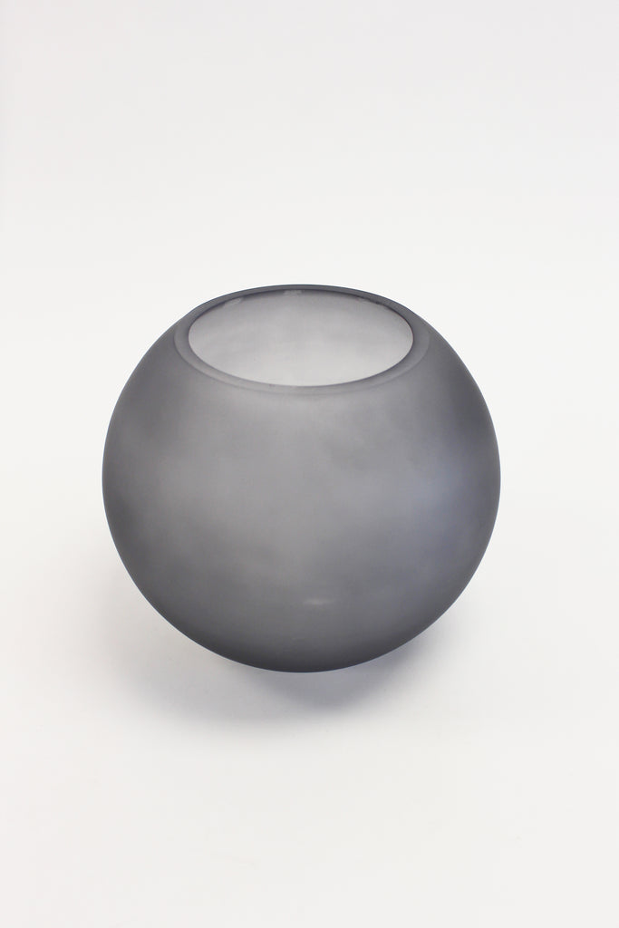 Glass Frosted Fisbowl Vase