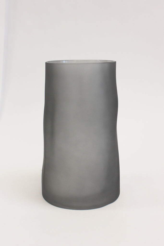 Glass A-Symmetrical Frosted Vase